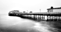 Cromer pier in monochrome